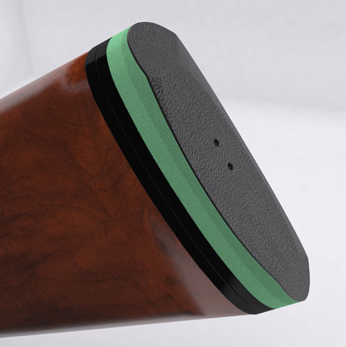 ACE-Green-Pad-on the stock of shotgun