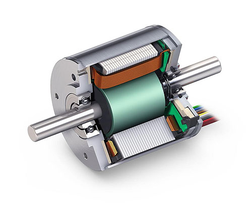 Highly dynamic brushless dc motors for Large brushless dc motors